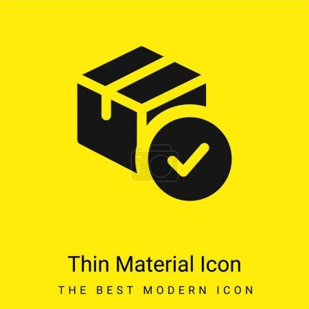 Photo pour Approbation minimale icône matérielle jaune vif - image libre de droit