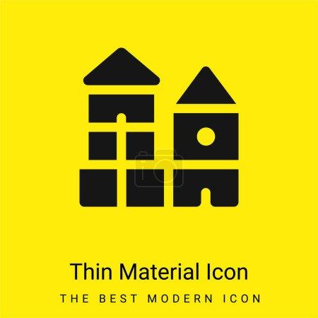 Photo pour Bloquer l'icône matérielle jaune vif minimale - image libre de droit