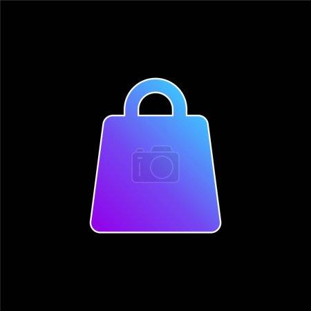 Illustration pour Big Bag icône vectorielle dégradé bleu - image libre de droit