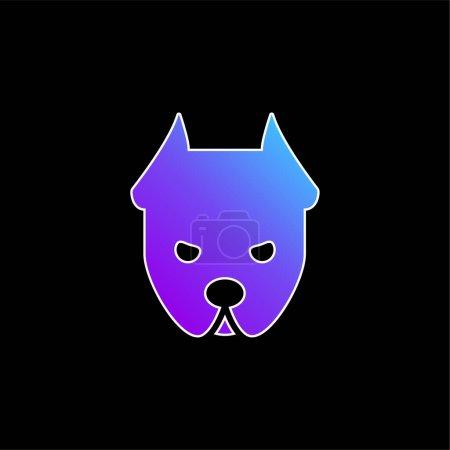 Illustration pour Angry Dog bleu dégradé vectoriel icône - image libre de droit