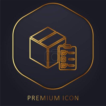 Illustration for Box golden line premium logo or icon - Royalty Free Image