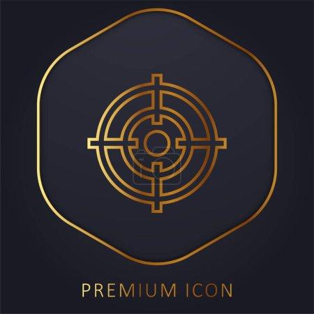 Photo pour But de la ligne d'or logo premium ou icône - image libre de droit
