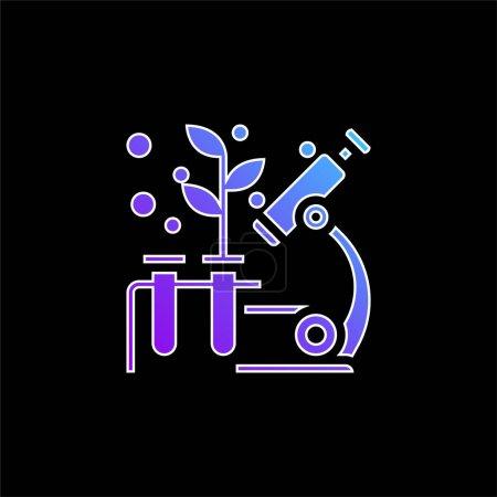 Illustration pour Biologie icône vectorielle dégradé bleu - image libre de droit