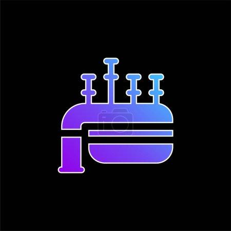 Illustration pour Icône vectorielle de dégradé bleu cornemuse - image libre de droit