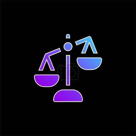 Illustration pour Icône vectorielle de dégradé bleu balance - image libre de droit