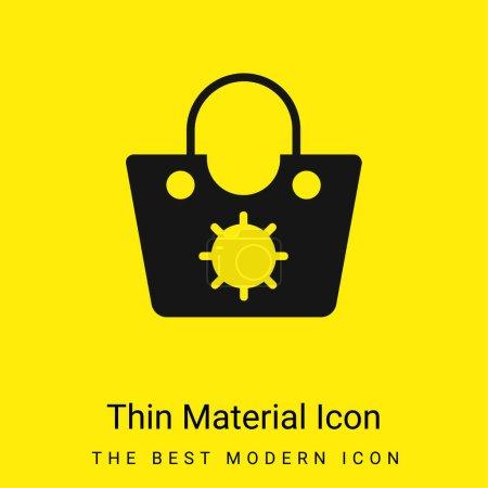 Bag minimal bright yellow material icon