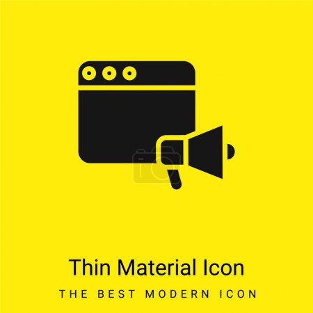 Illustration for Announcer minimal bright yellow material icon - Royalty Free Image