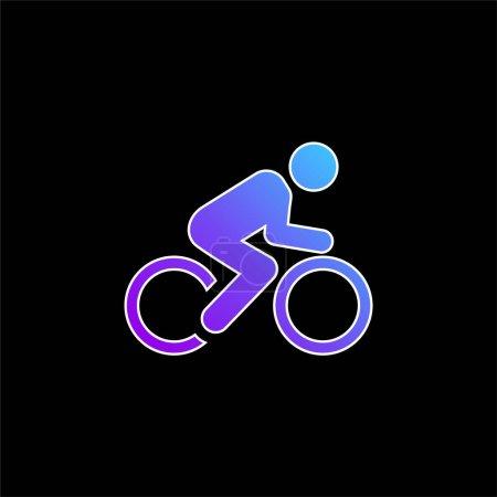 Illustration pour Icône vectorielle de dégradé bleu vélo - image libre de droit
