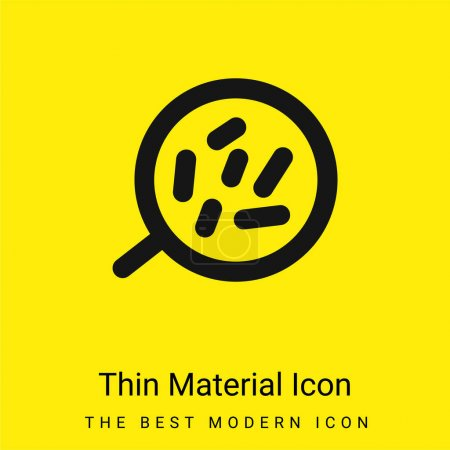 Photo pour Cellules du corps sous un outil de grossissement icône matérielle jaune vif minimale - image libre de droit
