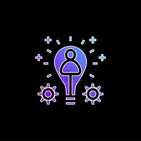 Illustration for Branding blue gradient vector icon - Royalty Free Image