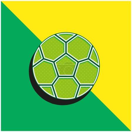Illustration pour Logo d'icône vectorielle 3D moderne vert et jaune - image libre de droit