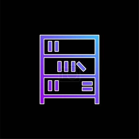 Book Shelves blue gradient vector icon