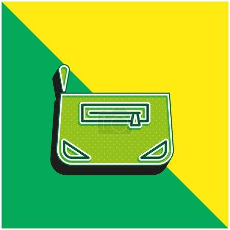 Photo pour Sac Logo vectoriel 3d moderne vert et jaune - image libre de droit