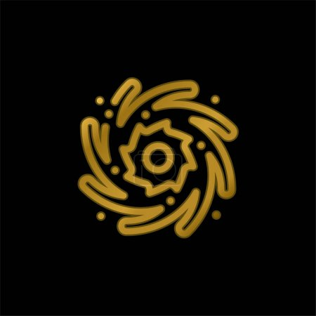 Photo for Black Hole gold plated metalic icon or logo vector - Royalty Free Image