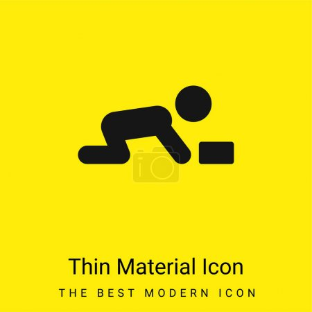 Illustration for Baby minimal bright yellow material icon - Royalty Free Image