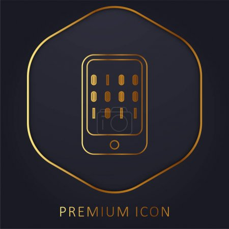 Illustration for Binary Data Of A Computer golden line premium logo or icon - Royalty Free Image