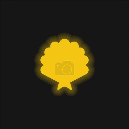 Photo for Big Shell yellow glowing neon icon - Royalty Free Image