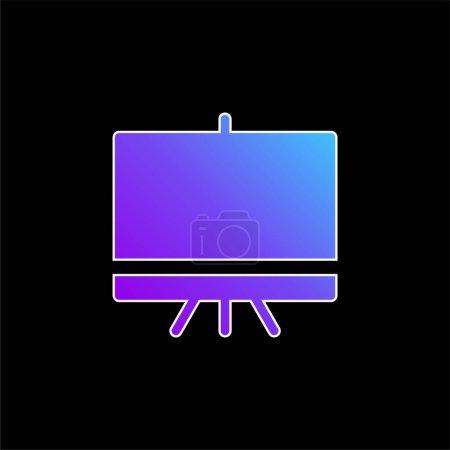 Illustration pour Icône vectorielle dégradé bleu tableau noir - image libre de droit