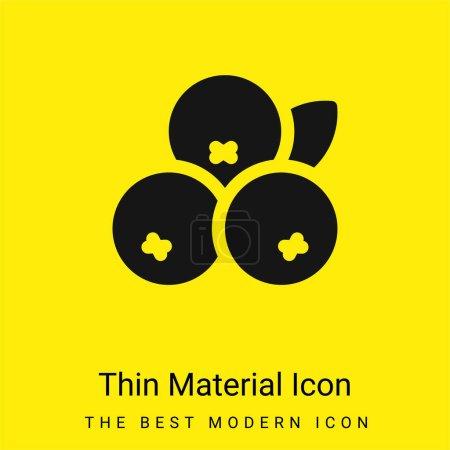 Acai minimal bright yellow material icon