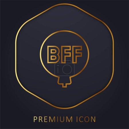 Illustration pour Ballon ligne d'or logo premium ou icône - image libre de droit
