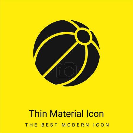Illustration pour Balle de plage icône matérielle jaune vif minimale - image libre de droit