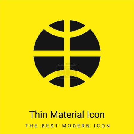 Basketball minimal bright yellow material icon