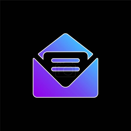 Big New Email blue gradient vector icon