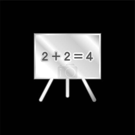 Blackboard silver plated metallic icon