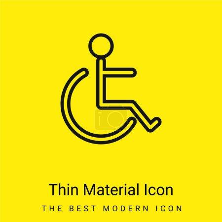 Illustration pour Accessibilité Signal minimal jaune vif icône matérielle - image libre de droit