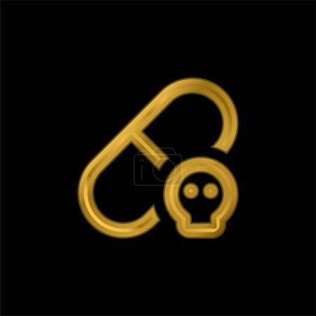 Illustration pour Icône métallique plaquée or allergique ou vecteur de logo - image libre de droit