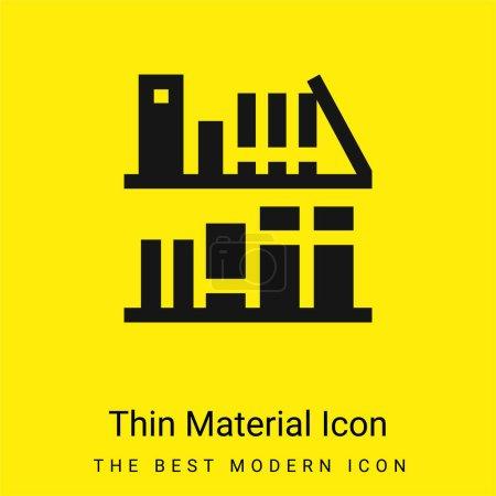 Photo pour Bibliothèque minimale icône de matériau jaune vif - image libre de droit