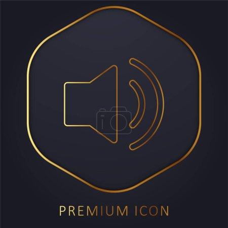 Audio golden line premium logo or icon