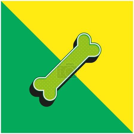 Illustration pour Os vert et jaune moderne logo icône vectorielle 3d - image libre de droit