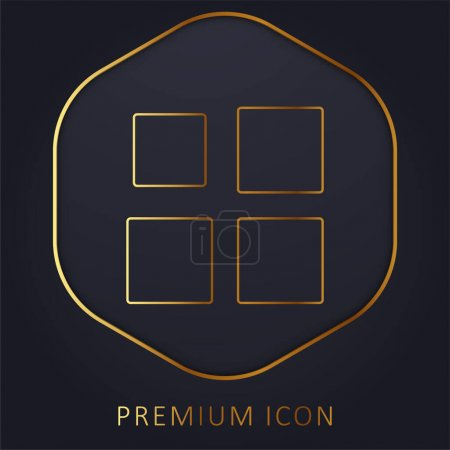 Illustration for Array golden line premium logo or icon - Royalty Free Image