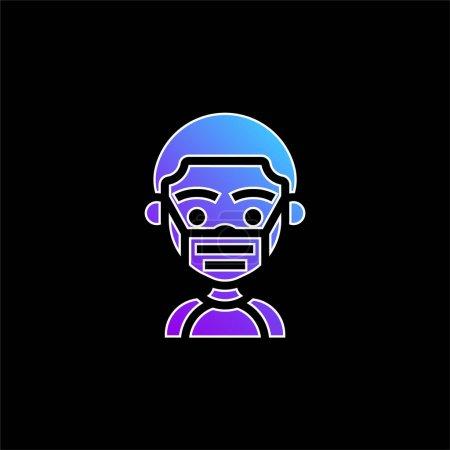 Boy blue gradient vector icon