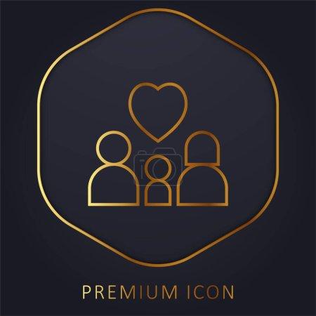 Photo pour Adoption ligne d'or logo premium ou icône - image libre de droit