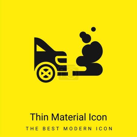 Photo pour Icône matérielle jaune vif minimale de pollution atmosphérique - image libre de droit