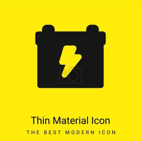 Illustration pour Batterie minimale jaune vif icône matérielle - image libre de droit