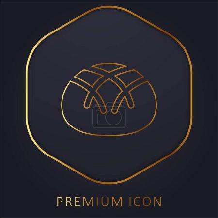 Illustration pour Pain ligne d'or logo premium ou icône - image libre de droit