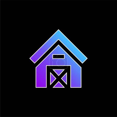 Barn blue gradient vector icon