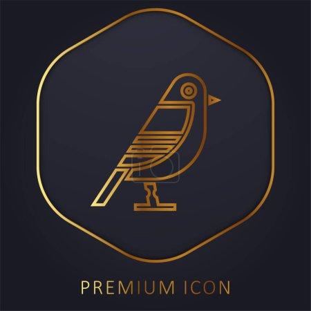Illustration pour Oiseau ligne d'or logo premium ou icône - image libre de droit