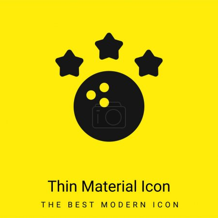 Illustration pour Bowling minime icône matériau jaune vif - image libre de droit