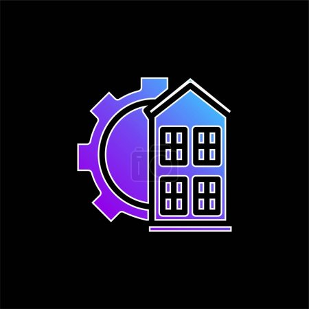 Illustration for Architectonic blue gradient vector icon - Royalty Free Image
