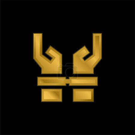 Illustration for Arrested gold plated metalic icon or logo vector - Royalty Free Image