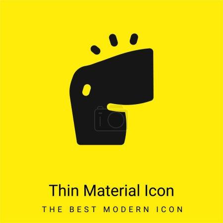 Illustration pour Bras minimal jaune vif icône matérielle - image libre de droit