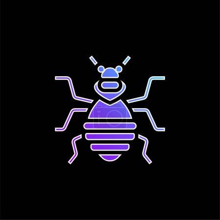 Illustration pour Icône vectorielle de dégradé bleu punaise de lit - image libre de droit