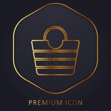 Foto de Bolso línea de oro logotipo premium o icono - Imagen libre de derechos