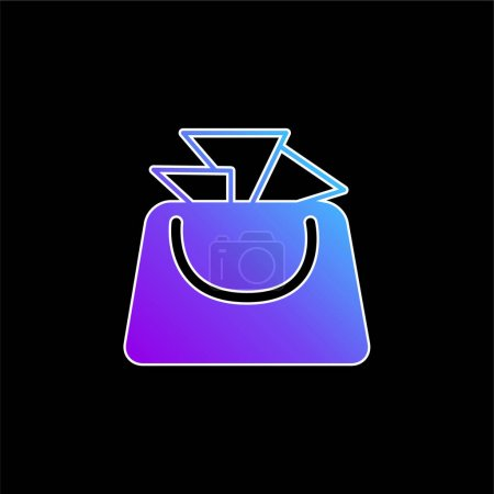 Illustration for Bag For Ladies blue gradient vector icon - Royalty Free Image