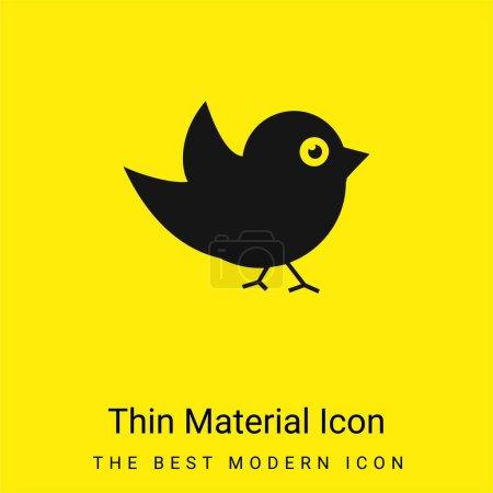 Illustration pour Icône matérielle jaune vif minimale Black Bird - image libre de droit