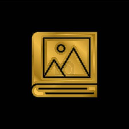 Illustration pour Album icône métallique plaqué or ou vecteur de logo - image libre de droit